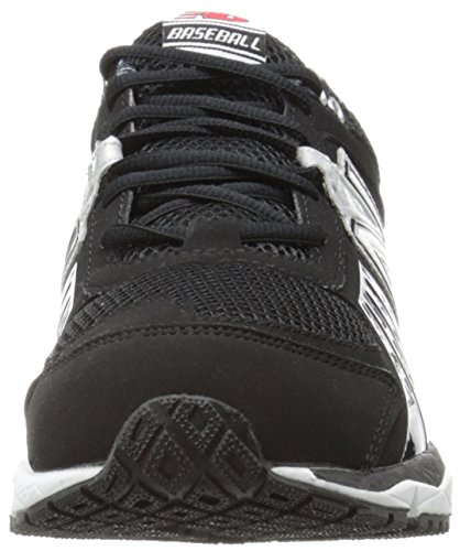 New Balance Men's T1000 Turf Low Baseball Shoe,Blue/Silver,12.5 D US Black/Silver