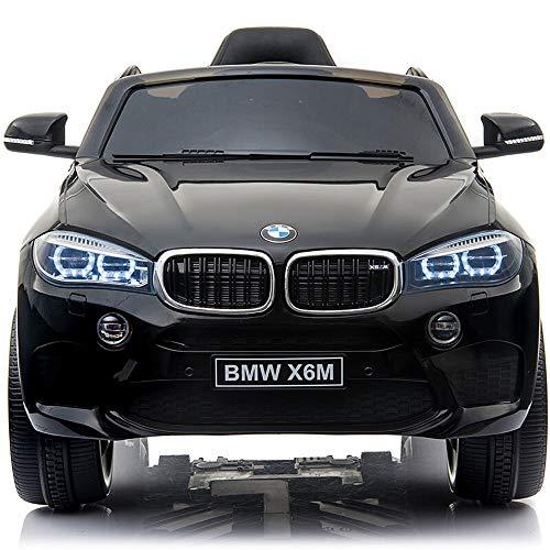 Ycco BMTWU Fernbedienung Kinderauto Spielzeug Elektro RC Kinder Aufsitz ZWEI MOTOREN Batteriebetrieben Stil Aufsitz Sport Coupe Lizenziert 12V 7A (Color : Black) -