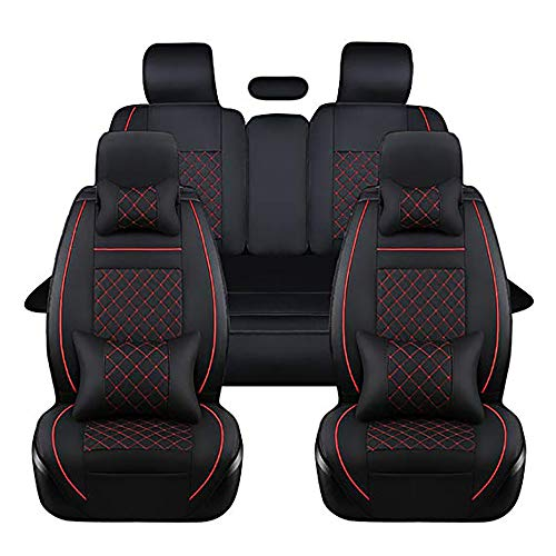 YQAD Fünf-Sitz Leder Autositz Sitzbezug 360 ° Full Surround Fit Modell (Audi A3 A4L A6L Q3 Q5 A5)-4 - 2010 Toyota Sitzbezüge Corolla