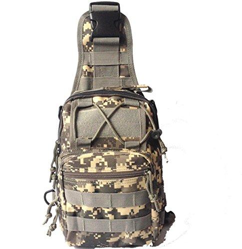 BULAGE Paket M-Paket Brusttasche Tasche Leinwand Reiten Tarnung Feld Bewegung Schulter Diagonal Im Freien Tasche A