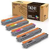 STAROVER 5x TN241 TN-241 TN245 TN-245 Cartouches De Toner Compatible Pour DCP-9020CDW...
