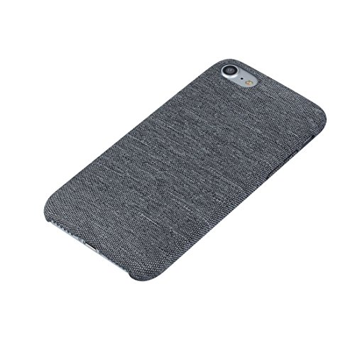 iPhone Case Cover Pour iPhone 7 denim texture TPU étui de protection arrière ( Color : Grey ) Grey