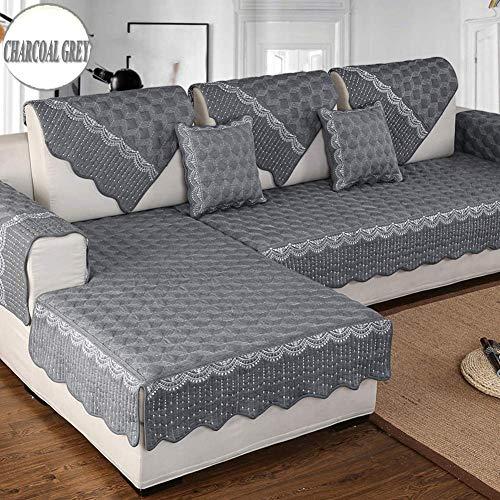 1949shop Funda Protectora Antideslizante para Protectores de Muebles Acolchados para Perros, Toda la Temporada Funda de sofá Sofá seccional de algodón Moderno Funda Protectora para sofá en Forma de U