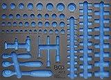 BGS 3/3 Werkstattwageneinlage für Umschaltknarren und Steckschlüsseleinsätze, leer, 4015-5