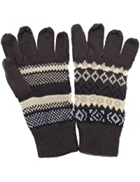 Mens Knitted Fairisle Gloves