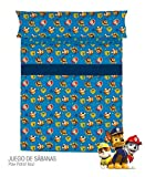 OFERTA - Juego de sábanas PAW PATROL Tela Azul ( Cama 90 )
