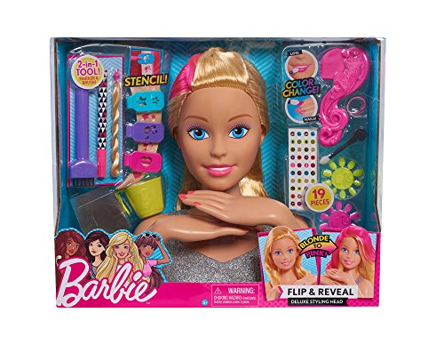 Smoby 320303 - Barbie Frisierkopf Deluxe Blond & Pink