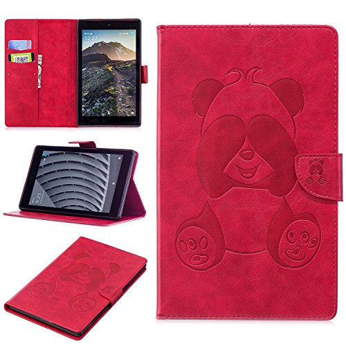 "Cozy Hut Kindl Fire HD 8"" 2017 Hülle, Amazn Kindl Fire HD 8"" (6th Gen/2017 Edition) Smart Case, Kindl Fire HD 8"" 2017 Abnehmbarer Lederhülle Case PU Leder Tasche Smart Cover Case Lederhüll"