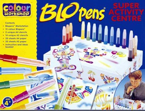COLOR WORKSHOP BLOPENS   JUEGO CREATIVO DE BOLIGRAFOS DE SOPLAR (15 BOLIGRAFOS Y PLANTILLAS)