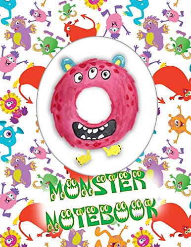 O Monster Notebook: Kids Monogrammed Journal and Doodle Book