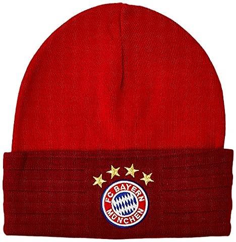 adidas Kinder Mütze FC Bayern 3-Stripes Woolie, True Red/Craft Red F12/White, OSFY, AA0754