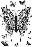 Dali Art Henna palline timbro chiaro Farfalle Transparent