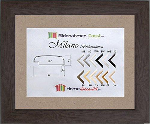 Milano MDF-Bilderrahmen 97x137 Eiche dunkel dekor 137x97 mit Antireflex-Acrylglas