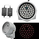 LED IR-Strahler,LED IR Scheinwerfer Überwachungs Nachtsicht f.Überwachungskamera CCTV 60°8W Scheinwerfer+Netzteil