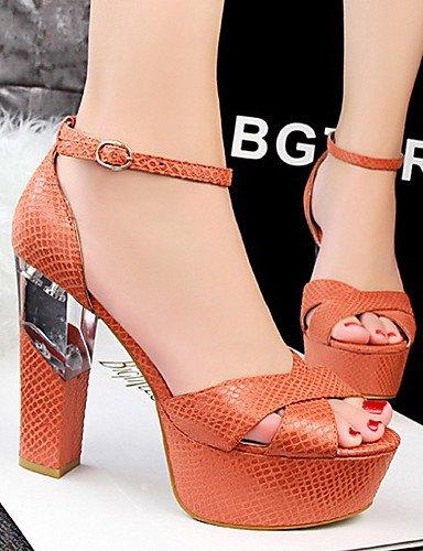 LFNLYX Chaussures Femme-Décontracté-Noir / Rouge / Argent / Gris / Or / Orange-Gros Talon-Talons / Bout Ouvert-Sandales-Paillette Red