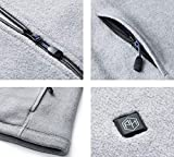 Pau1Hami1ton PJ-06 Damen Winterjacke beheizbare Heiz-Jacke beheizbare Softshell-Jacke Heat Jacket Hoodie Reissverschluss warm Jacke (5V / 2A or Higher Power Bank (L, Grey) - 6