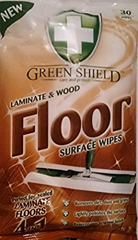 60 Laminate & Wood Floor Surface Wipes /2 Packs 30