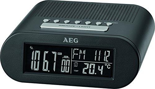 AEG MRC 4145F Funk-Uhrenradio Temperaturanzeige, Wochentags-und Datumsanzeige