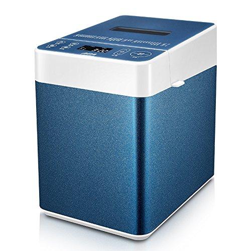 GCCI Brotmaschine nach Hause mit Automatischem Stummkneten,Blau + weiß