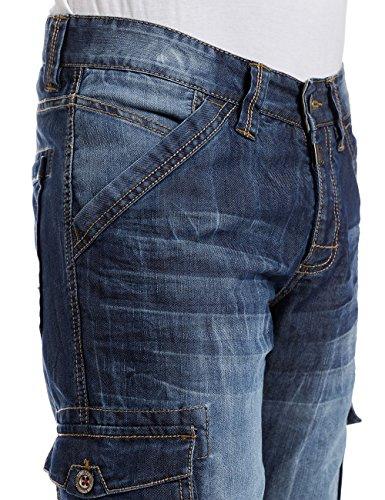 Timezone, Shorts Uomo Bleu (blue ocean wash 3918)