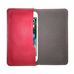 Fastway Leather Pouch Flip Case for Acer Liquid Jade S Pink
