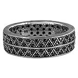 Thomas Sabo Ring Silber mit schwarzen Zirkonia geschwärzt RG 62 TR2051-643-11-62