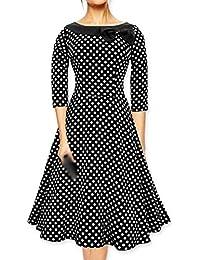 E-Girl M114118D Robe de bal Vintage pin-up 50's Rockabilly robe de soirée cocktail,S-XXL