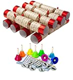 "Robin Reed 8 x Extra Large (14"") Hand Bell Musical Christmas Crackers"