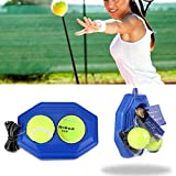 Tennis Ball Trainer, VPower® Tennis Boden mit einem Seil Selbststudium Tennis Rebound Player mit Trainer Baseboard + 2 Training Ball earable mit Exquisites Design und feine Verarbeitung.