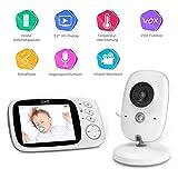 GHB Babyphone 3,2' Smart Baby Monitor mit TFT LCD Bildschirm Nachtsichtkamera und Temperaturüberwachung