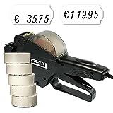 Preisauszeichner Set: Preisauszeichnungsgerät Smart 6 für 26x12 inkl. 7.500 HUTNER Preisetiketten weiss leicht klebend | etikettieren | HUTNER