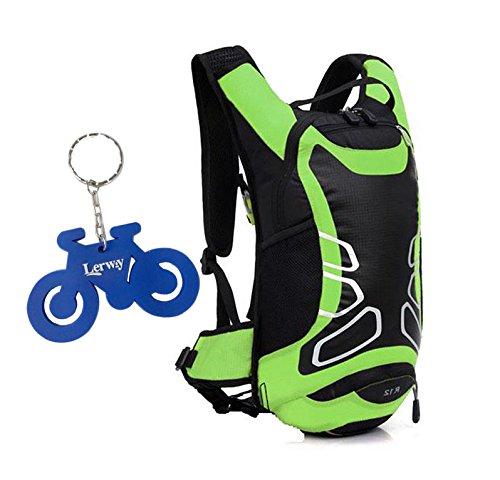 Lerway ® MTB Fahrrad-Dry Radfahren, Reiten, Laufen, Zelten, Wandern, Packsack, wasserdicht, für Outdoor-Rucksack Daypack Rucksack moderne Sportliche Schulter-Tasche-Tagesrucksack, für Momen Herren, Mä grün - grün