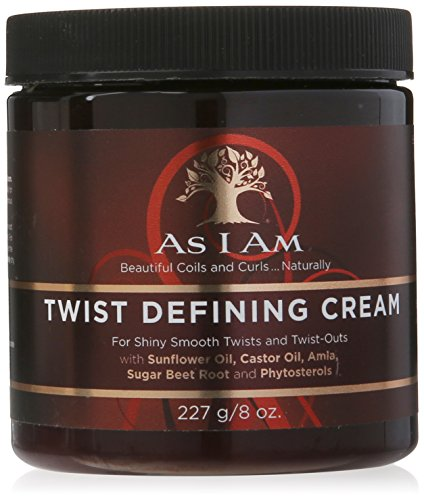 As I Am Twist Defining Cream – cremas para el cabello (Mujeres, Brillo, Suavizar, Aqueous (Water, Aqua Purificada, Purified) Extracts: Cocos Nucifera (Coconut)¹ and Phyllanthus Embli, – Use after cleansing and conditioning your hair. (Do not towel dry or blot after your final rinse.))
