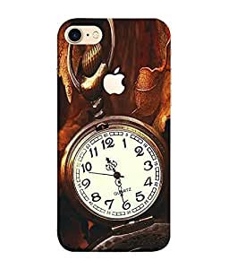 FUSON Designer Back Case Cover for Apple iPhone 7 (Logo View Window Case) (Painitings Watch Cute Fashion Laptop Bluetooth )