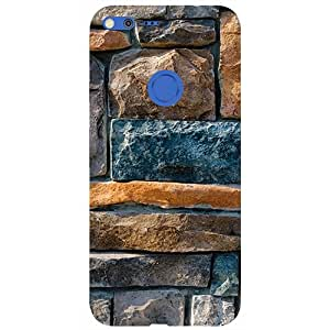 Casotec Decorative Stone Cladding Design 3D Printed Hard Back Case Cover for Google Pixel