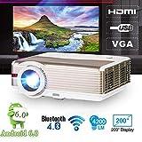 Proiettore video da 5000 lumen, LED Home Theater cinema multimediale Full HD 1080P con TV / AV / VGA / USB / HDMI per giochi cinematografici all'aperto Home Entertainment