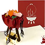 PaperCrush® Pop-Up Karte Grill - 3D Geburtstagskarte, Männer Glückwunschkarte, Mitbringsel für Grillparty, Grillen - Lustige 3D-Karte für Papa, besten Freund, 18. Geburtstag