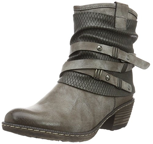 Rieker Kinder Mädchen K1483 Cowboy Stiefel, Grau (Cigar/Blei/25), 40 EU (Cowboy-stiefel Für Kinder)