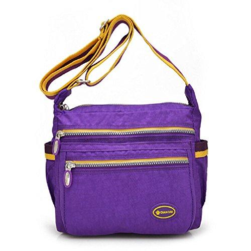 lifewheel femmes toile sac vintage Ventilation Sac bandoulière bandoulière, violet (Pourpre) - LFWL2016031102 violet