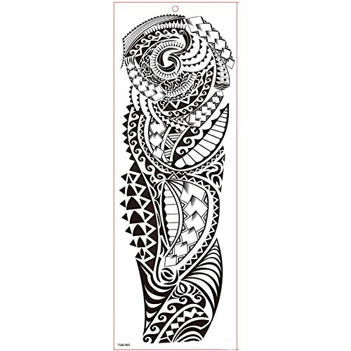 Kostüm Girl Lion - GHHCG Große Ärmel Tattoo Wasserdicht Temporäre Tätowierung Aufkleber Lion Beast Rose Volle Blume Tattoo Body Tattoo Girl, Tqb065