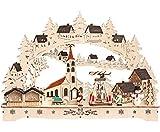 Deko-Geschenke-Shop LED Lichterbogen Schwibbogen Weihnachtsmarkt mit Pyramide 3 Winter Figuren