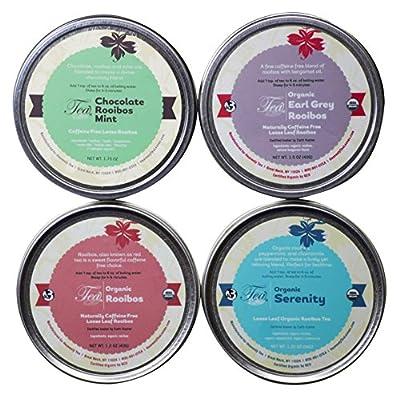 Heavenly Tea Leaves Tea Sampler, Herbal/Rooibos, 4 Count