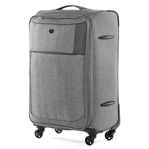 FERGÉ Trolley bagaglio a mano viaggio Saint-Tropez - Valigia morbida valigetta bagaglio cabina 4 ruote girevole grigio