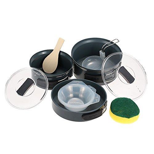 Docooler Camping Töpfe & Pfannen/Outdoor Cookware, Material: Aluminiumlegierung (Pot/Bratpfanne/Scoop/Löffel/Bowl/Sponge)