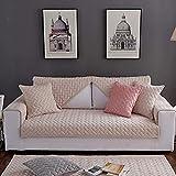 YLCJ 3-Sitzer-Sofabezug mit Halbinsel Geeignet für Haustiere/Kinder, Segmentierter Rutschfester Sofabezug, 1 Stück, Beige, 1Stück90 * 180cm