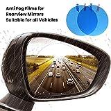 BESTEU 2pcs Pellicola Antipioggia per Specchietto retrovisore Adesivi per Auto Decalcomanie Pellicole per vetri per finestre Pellicole Anti-Nebbia Impermeabili su Accessori per Auto Auto