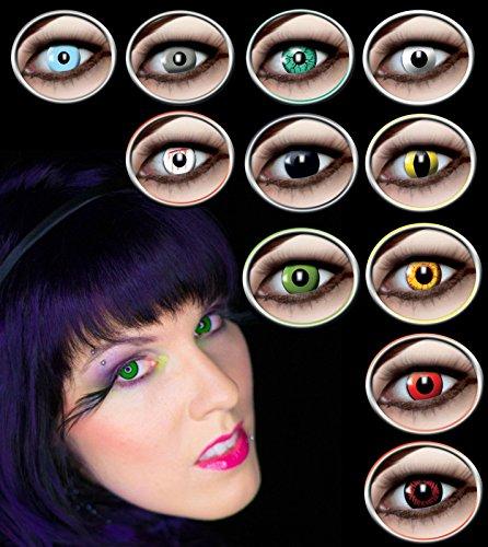 Fun Linsen ohne Stärke in 9 verschiedenenen Motiven erhältlich Kontaktlinsen bunt Farbige Linsen Motivlinsen Eyecatcher Horrorlinsen Monatslinsen Eye Efect Effektlinsen Crazy Linsen Verrückte Augen (Red Wolf)