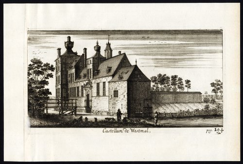 theprintscollector-antique-print-westmalle-castle-belgium-le-roy-1678