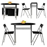3pcs Folding Breakfast Dining Table Set with 2 - Best Reviews Guide