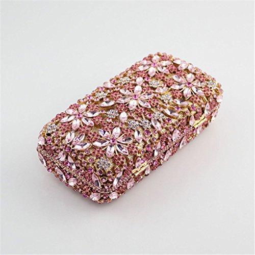 Sacchetto Di Mano Della Maniglia Del Fiore Di Modo Del Sacchetto Di Sera Di Diamante Delle Donne Purple